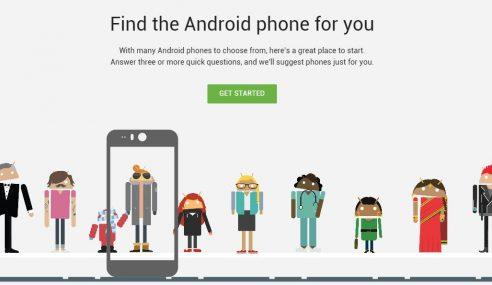 Which Phone, Laman Untuk Memilih Peranti Android Anda