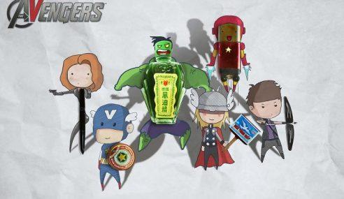 Lukis Watak 'The Avengers' Dgn Gabungan Objek Biasa