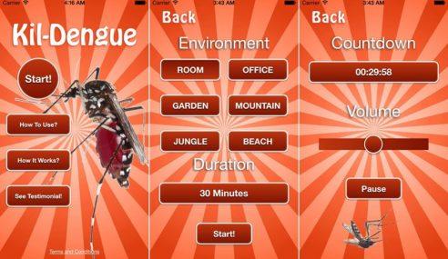 Terbaik! Aplikasi Peranti Pintar Bagi Menghalau Nyamuk Aedes