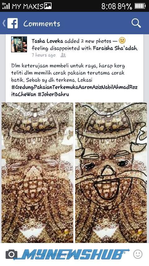 Heboh! Bila Jenama Kain Popular Jual Batik Berimej Berhala