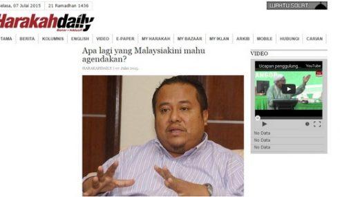 Harakahdaily Belasah Agenda Jahat Malaysiakini