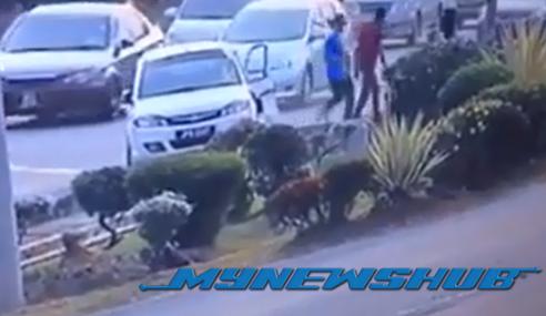 Video: Rakaman CCTV Pemandu Saga FLX Rempuh Ustaz