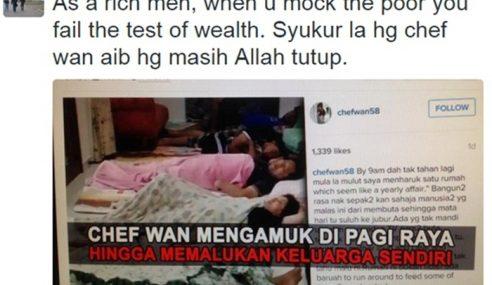 """Kami Bangun Lambat Sebab Letih Layan Peminat Chef Wan!"""
