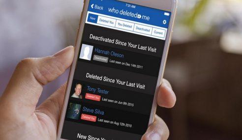 Who Deleted Me, Aplikasi Kesan 'Kawan' Yang Hilang