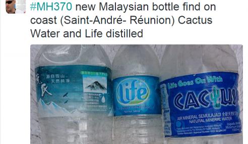 Botol Air Jenama Cactus Dijumpai, Misteri MH370 Bakal Terungkai?