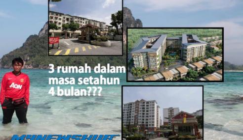 Walau Gaji RM2,400, Pemuda Ini Sudah Miliki 3 Rumah