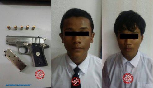 Mengejutkan! Dua Pelajar Sekolah Ditahan Kerana Miliki Pistol