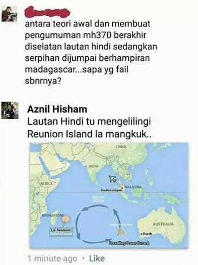Ada Netizen Jahil Geografi Bila Rujuk Teori Misteri MH370