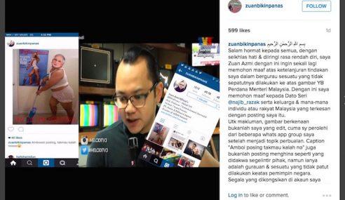 Zuan Melodi Mohon Maaf Isu Gambar PM Di Instagram
