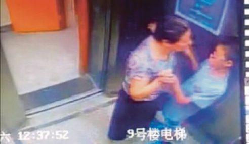Babak Nenek Menggatal Dalam Lif Viral Di China