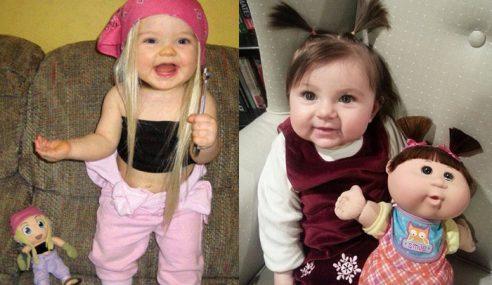 Gambar Budak Kecil Sama Dengan Anak Patung Jadi Perhatian