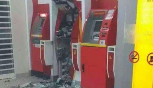 Pencuri Letupkan ATM Di Melaka, Larikan Sejumlah Wang