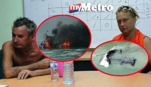 APMM Selamatkan 2 Pelancong Selepas Kapal Layar Terbakar