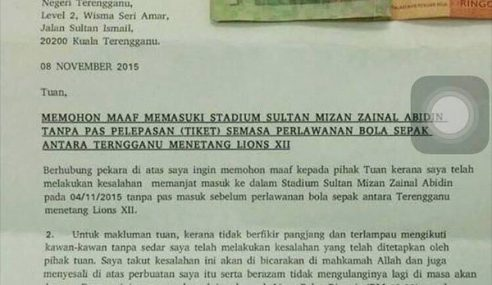 Individu Jujur Mohon Maaf, Masuk Stadium Tanpa Pas