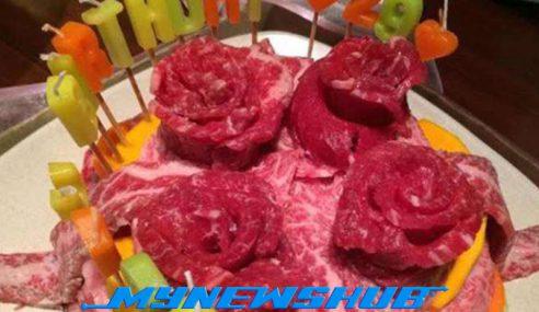 Daging Jadi Pengganti Kek Hari Jadi Di Jepun
