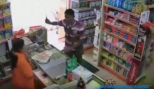 VIDEO: Serang Isteri Ketika Kerja Guna Pisau Di Speedmart