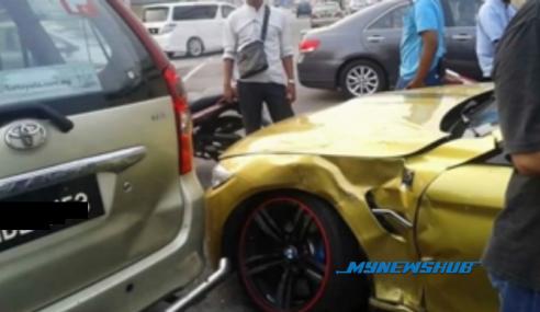 Video: Padah Langgar Lampu Merah, Avanza Rempuh BMW