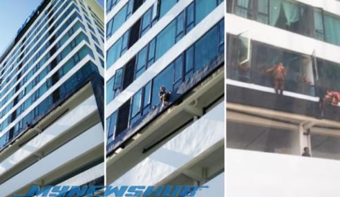 VIDEO: Bomba Sabah Gagalkan Cubaan Bunuh Diri Di Hotel