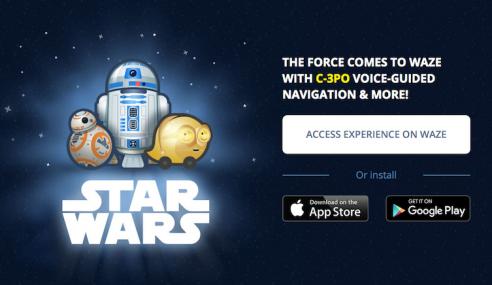 Kini Anda Boleh Gunakan Waze Versi Star Wars!