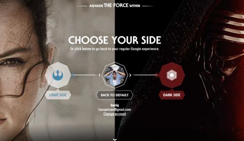 Google Perkenalkan Tema Aplikasi Sempena Star Wars