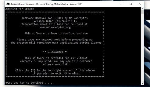 Junkware Removal – Hapuskan Adware Dan Malware Dari PC Anda