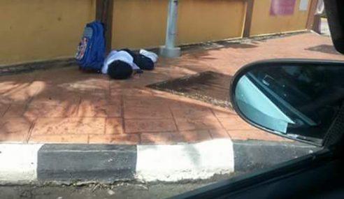Gambar Murid Didakwa Tertidur Tunggu Ibu Bapa Cetus Simpati