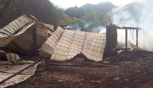 Lelaki Rentung Ditemui Dalam Rumah Yang Musnah Terbakar