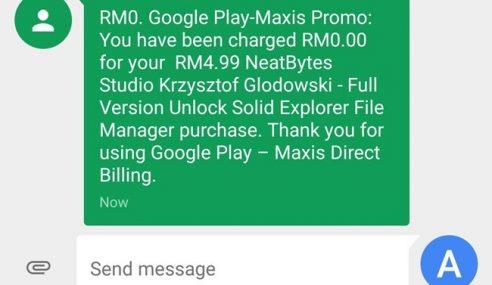 MAXIS Tawarkan Rebat RM5 Untuk Pembelian Pertama Di Play Store