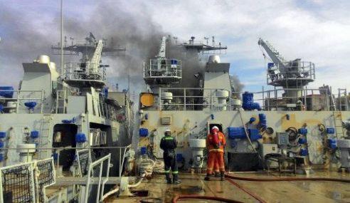 Enjin Kapal Latihan Milik TLDM Terbakar