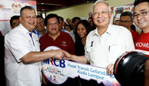 Najib Rasmi Pusat Transit Gelandangan Kuala Lumpur