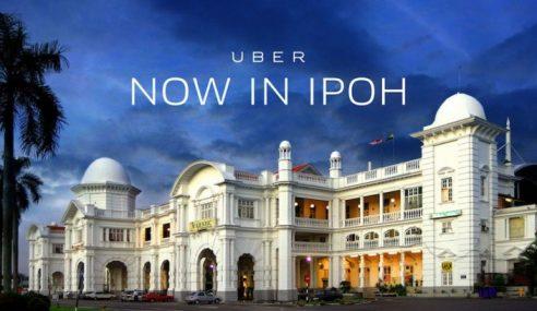 Uber Mula Khidmat Di Bandar Ipoh Februari Ini