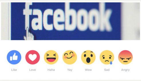 Tak Puas Hati Butang 'Like', FB Sedia 'Love', 'Wow', 'Haha'….