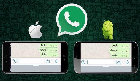 Kini Mesej WhatsApp Dah Boleh Bold, Italic, Strikethroughs