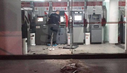 2 Lelaki Ditahan Bantu Kes Letupkan Mesin Deposit Tunai Bank