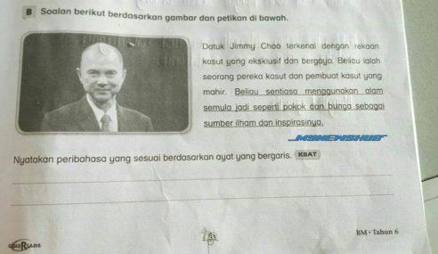 Soalan KBAT 'Jimmy Choo' Trending Di Media Sosial