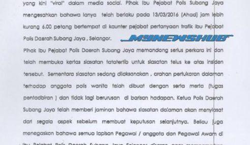 Marah 'Stupid', Anggota Trafik Amuk Dipindah Ke Jabatan Lain