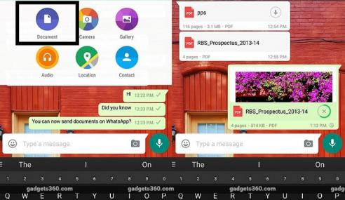 Whatsapp Beta Membolehkan Penghantaran Fail Dokumen
