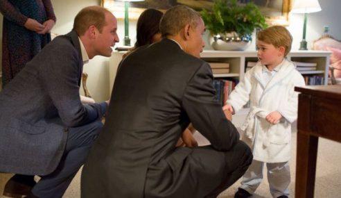 Presiden Obama Bertemu Putera George Buat Kali Pertama