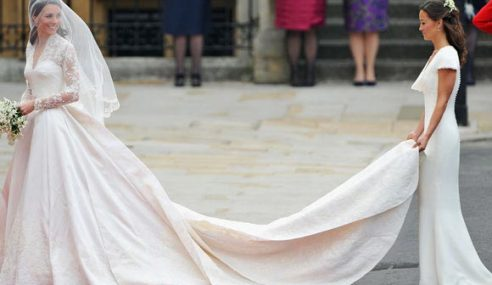 Gaun Pengantin Kate Middleton Didakwa Hasil Ciplak?