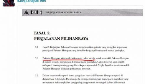 PKR-DAP Tikam Sesama Sendiri Perjanjian Kerusi PRN Sarawak