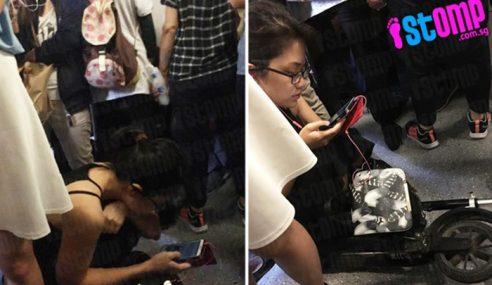 Tindakan Wanita Ini Duduk Atas Skuter Dalam Tren Dikecam