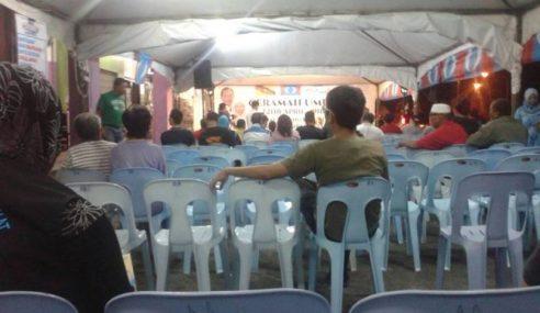PRN Sarawak: Ceramah Umum Pertama PKR Hambar