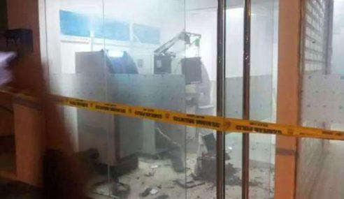 Kira-Kira RM70,000 Lesap Mesin ATM Diletup Di Membakut