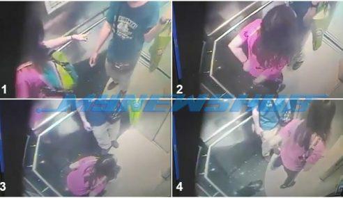 Aksi Wanita Kencing Dalam Lif Dirakam CCTV