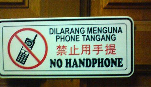 Kempen Jangan Bawa Telefon Bimbit Di 30 Restoran