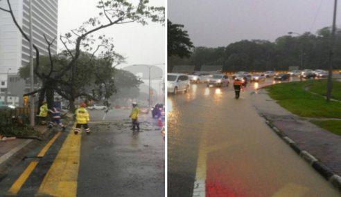 Hujan Batu Melanda Ibu Negara Petang Jumaat