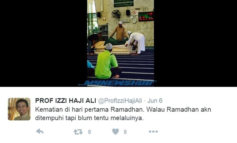 Prof. Izzi Haji Ali Meninggal Dunia Ramadan Ke-19
