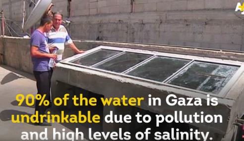 Lelaki Palestin Jadi Hero, Guna Tenaga Matahari Untuk Hasilkan Air Bersih