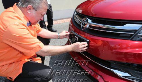 Plat F1 Harga RM836K Untuk Kereta Perdana Sultan Johor