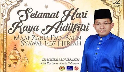 Aidil Fitri Kunci Penyatuan Umat Islam – Irmohizam